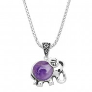Gemstone Elephant Necklace
