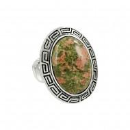 Unakite Stone Ring