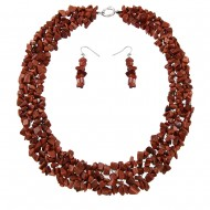 Gold Sand Necklace Set