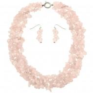 Rose Quartz Necklace Set
