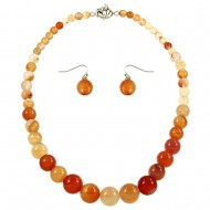 Apricot Agate Necklace Set