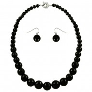 Black Onyx Necklace Set