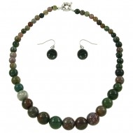 Indian Agate Necklace Set