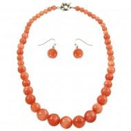 Peach Quartz Necklace Set