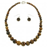 Tiger Eye Necklace Set