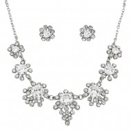 CZ Necklace Earring Set