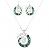 Abalone Shell Necklace Set