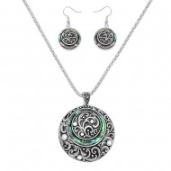 Abalone Shell Necklace Set