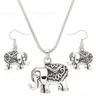 Elephant Necklace Set