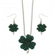 4 Leaf Clover Necklace Set