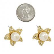 Pearl Post Earring