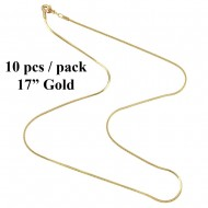"17"" Snake Chain / 10pcs Pack"