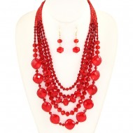 Glass Bead Necklace Set