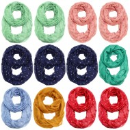 12pcs - Anchor Infinity Scarf
