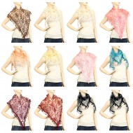 12pcs - Lace Scarf
