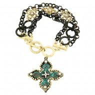 Cross Toggle Bracelet