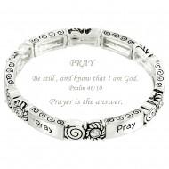 Pray Message Bracelet