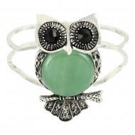 Owl Gemstone Bangle