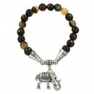 Black Cream Agate Bracelet