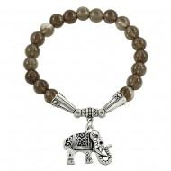 Smoky Quartz Stone Bracelet