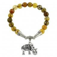 Yellow Dragon Agate Bracelet