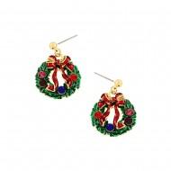 Christmas Wreath Earring
