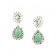 Turquoise Rhinestone Earring