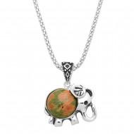 Gemstone Elephant Necklace