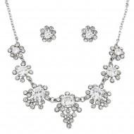 CZ Necklace Earring Set