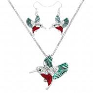 Hummingbird Necklace Set