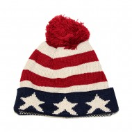 American Flag Knitted Cap
